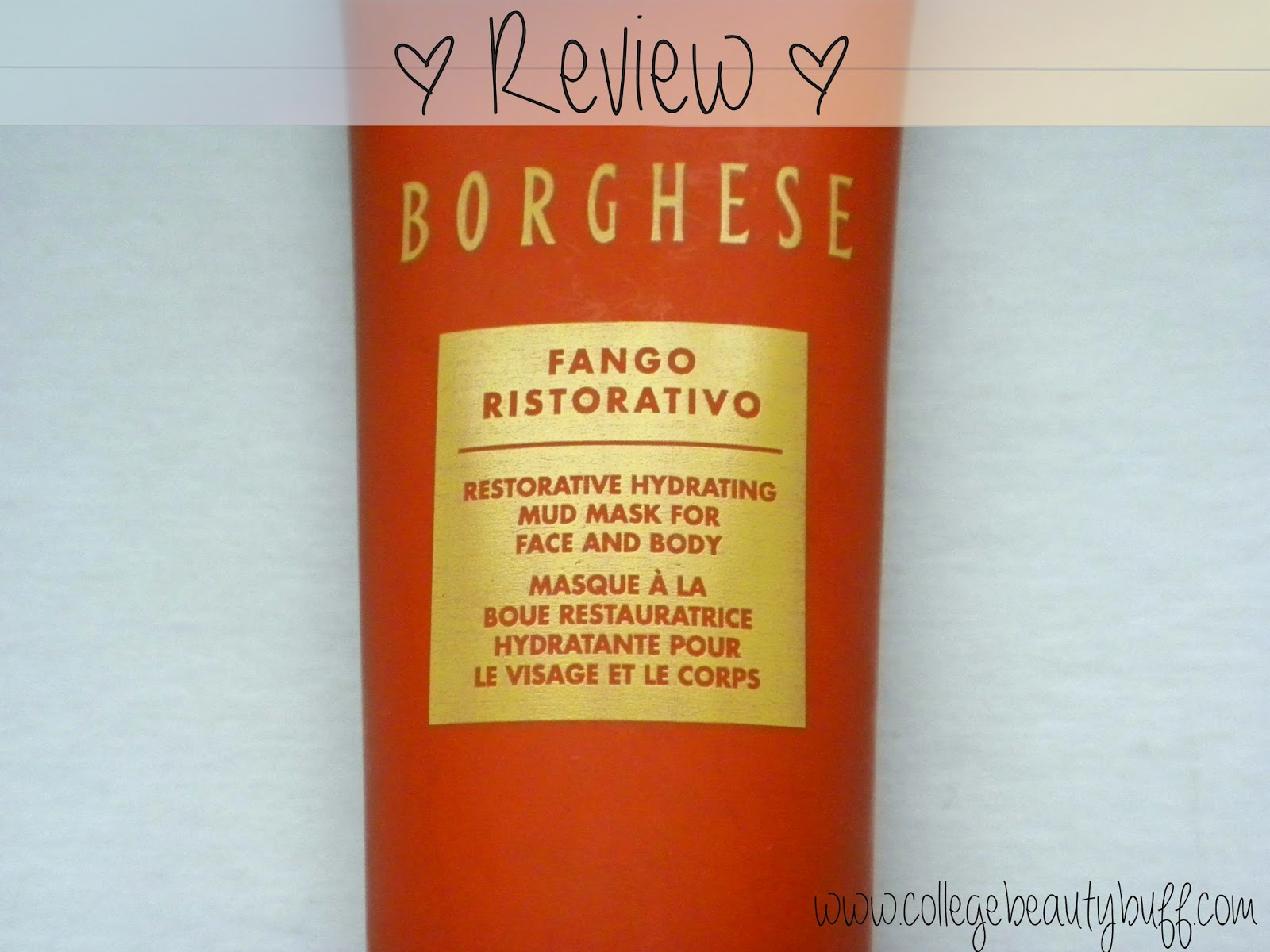 Review: Borghese Fango Ristorativo Mud Mask