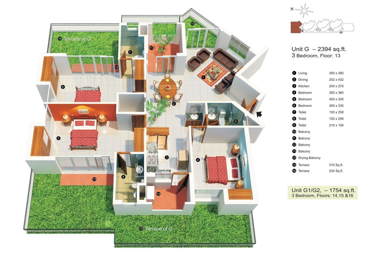 75 denah rumah minimalis 3 kamar tidur 3d yang modern dan