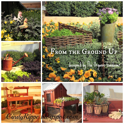 Garden elements, vegetables and flowers, Chicago Botanic Garden, The Organic Gardener in Glencoe, Garden buildings and decor, quote by David Orr, Florals-Family-Faith, Cindy Rippe
