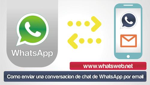 Como enviar una conversacion de chat de WhatsApp por email
