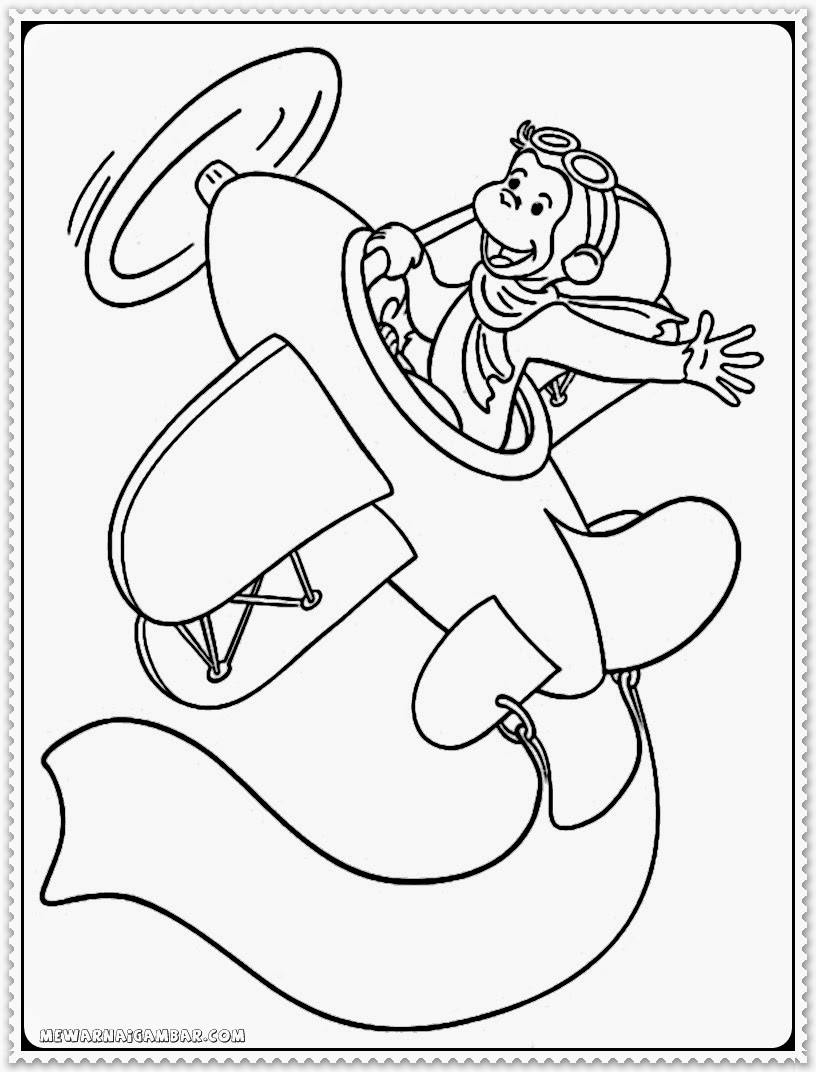 Realistic Curious George Printable Coloring Pages
