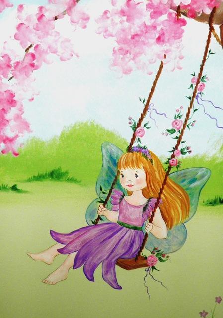 ζωγραφική παιδικών δωματίων, παιδικές τοιχογραφίες, ζωγραφική τοίχου, νεράιδες, πριγκίπισσες