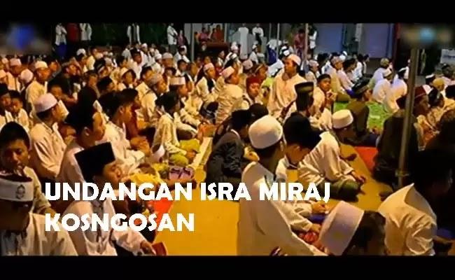 undangan isra mi'raj