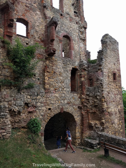 Touring a medieval castle near Basel, Switzerland with young kids