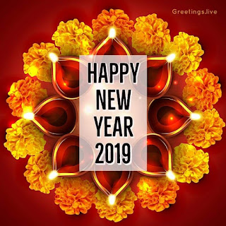 Happy New Year 2019 greetings live special image
