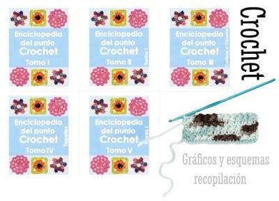 5 pdfs Hogar con recopilaciones de Patrones de Crochet