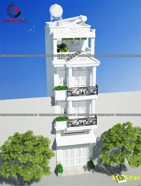 Mẫu thiết kế nhà 2 tầng 1 tum 5x12 bán cổ điển ở nông thôn Thiet-ke-nha-2-tang-1-tum-b