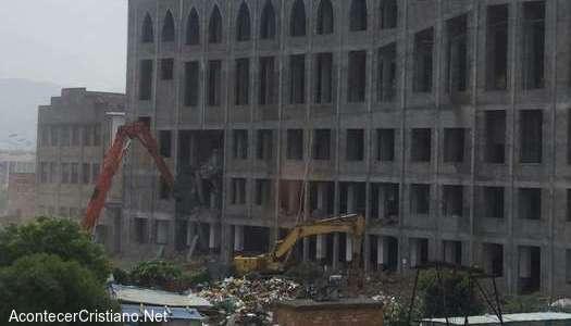 Demolición de iglesia cristiana en China