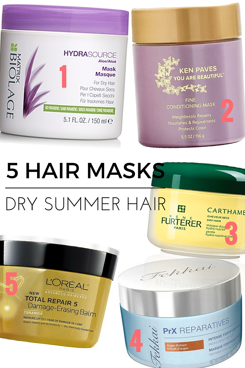 Five Hair Masks to Combat Dry Summer Ends - www.greysuede.com