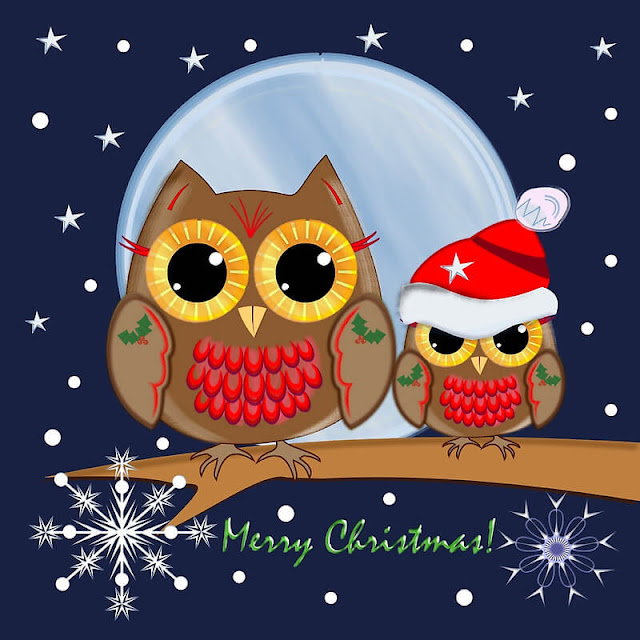 Merry Christmas owl images