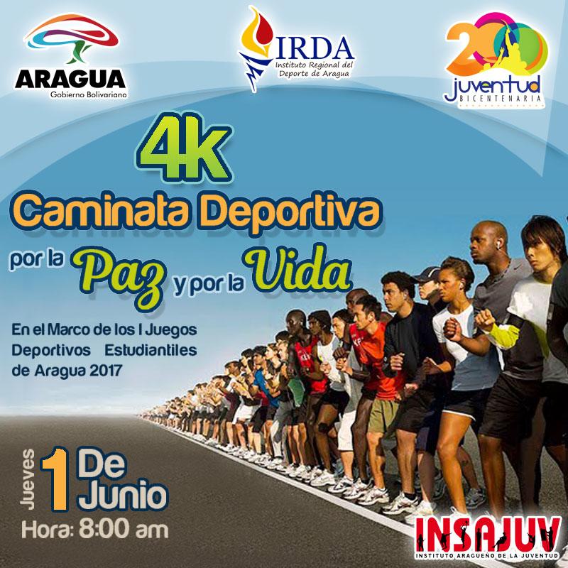 IRDA realizará este jueves Caminata Deportiva 4K Por la Paz y por la ...