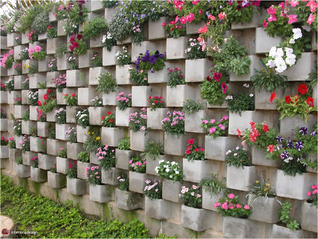 Wall with plants