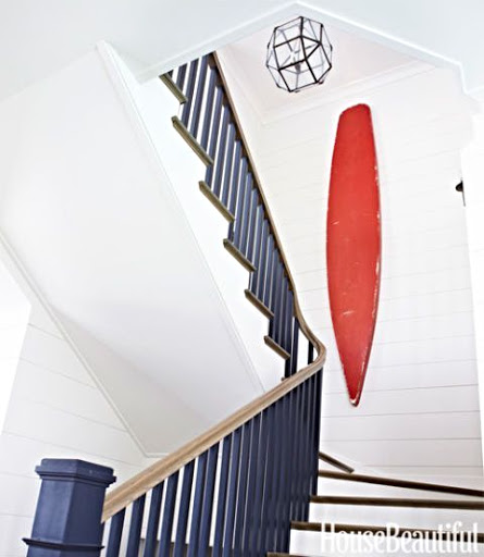 Red Surboard as Wall Decor