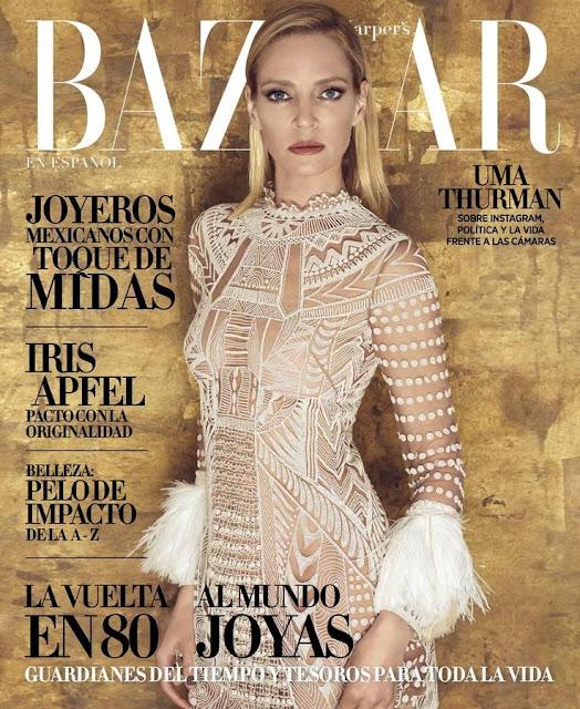 Actress, Singer, Model, @ Uma Thurman - Harper's Bazaar Mexico, May 2016