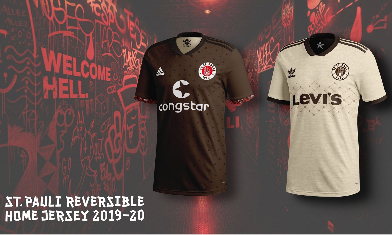 premium selection 1548f b5e56 Awesome Adidas St. Pauli 19-20 Reversible Concept Kit By ...