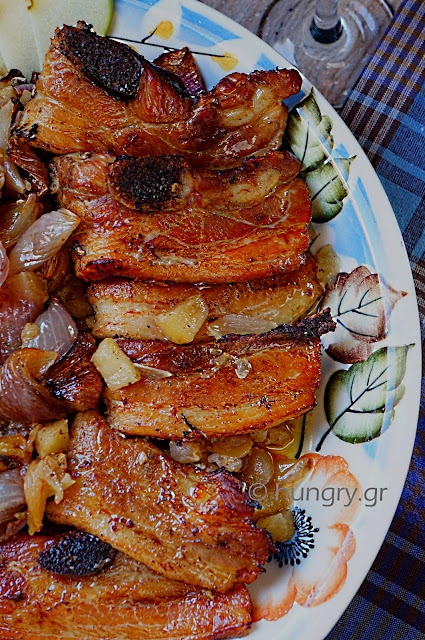 Pork Belly with Green Apples