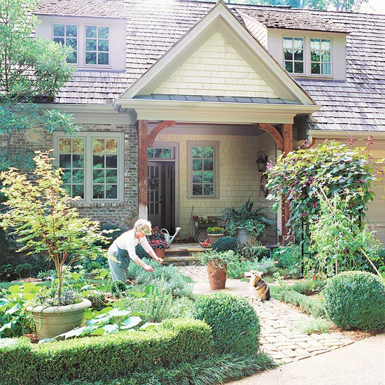 Small Front Yard Curb Appeal: New Home Interior Design: Front Yard Sidewalk-Garden Ideas