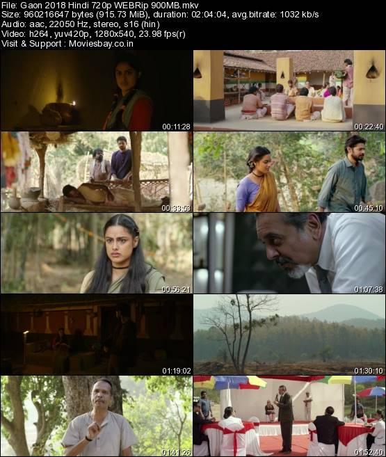 Gaon 2018 Hindi 720p WEBRip 900MB