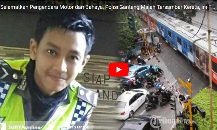 Innalillaahi... Selamatkan Pengendara Motor dari Bahaya, Polisi ini Malah Tersambar Kereta
