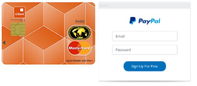 GTBank Naira Mastercard + PayPal