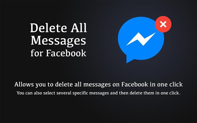 شرح حذف كافة الرسائل حساب فيسبوك