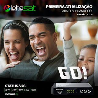 ATUALIZAÇÃO ALPHASAT GO V 1.0.0 - 20/03/2017