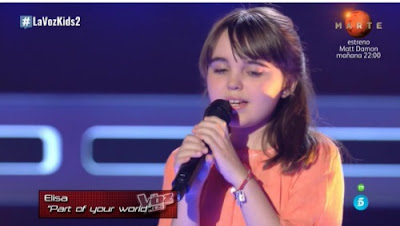 Elisa: Part of Your World |  Audiciones a ciegas La Voz Kids