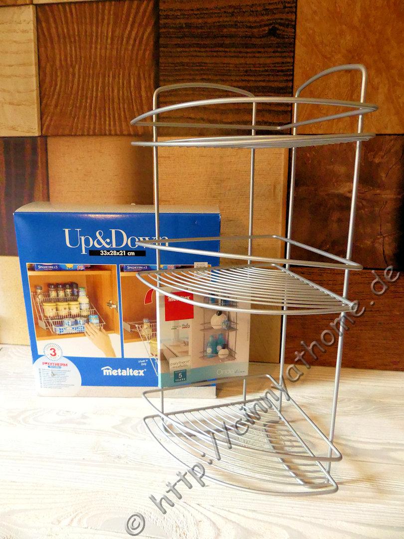 cinny home mehr ordnung im haus mit den regalen von metaltex onda up down praktisch. Black Bedroom Furniture Sets. Home Design Ideas