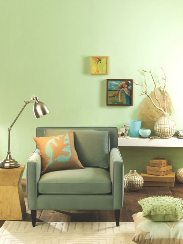 Wall Paint Colors Light Green Green Walls Paired With Antiques In
