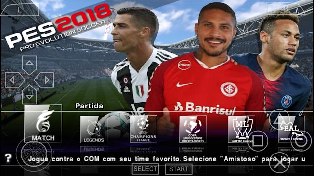 SAIU!! PES 2019 PPSSPP NOVO PATCH COM BRASILEIRÃO & EUROPEU CAMERA DE PS4 NARRAÇÃO BR ANDROID