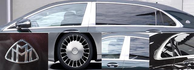 Phần hông Mercedes Maybach S500 2017 với hàng loạt điểm nhấn thương hiệu nổi bật