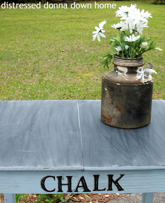 Americana Decor Chalky Paint, distressed table, primitives, chalkboard