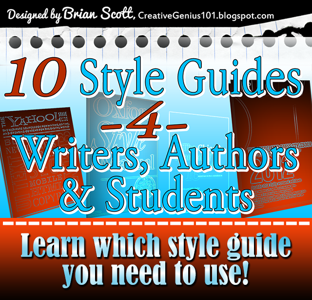 Style Guides for Writers, Authors and Editors