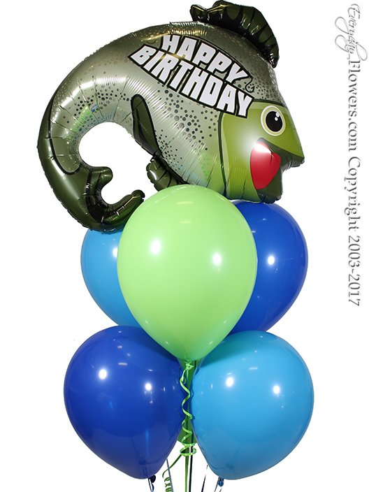 Happy Birthday Fishing Balloons by Everyday Flowers