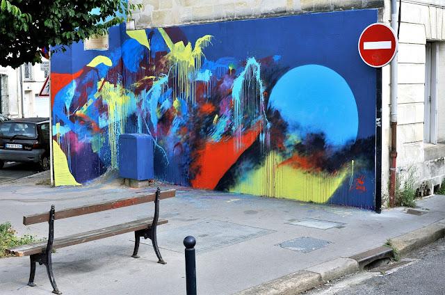 peinture sur mur a l'acrylique artiste peintre jean baptiste besançon peintre contemporain