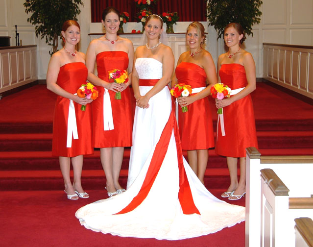 Orange Gown Wedding: Fashion Apparel 2012: Orange For Your Wedding Theme