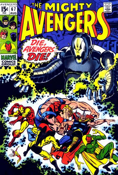 Avengers #67, Ultron, Sal Buscema cover