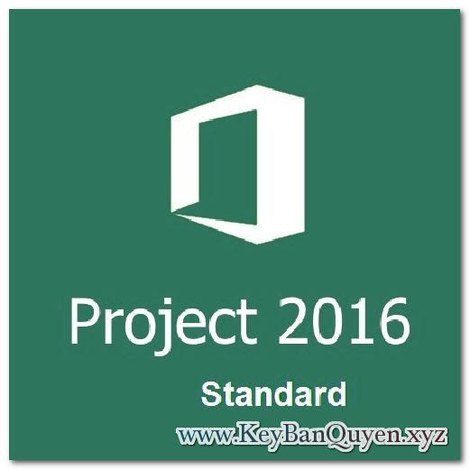 Bán key bản quyền Project 2016 Standard Full 32 và 64 Bit