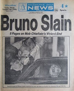 How the Philadelphia Daily News announced Bruno's murder in 1980