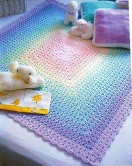 Patrón #813: Manta a Crochet