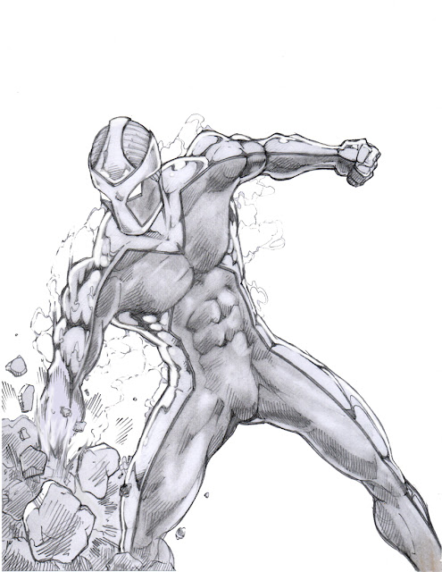 Superhero In Dynamic Pose!