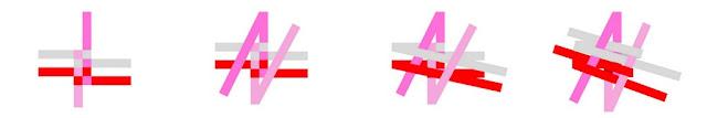 Diagram for weaving a DIY double spiral fleece dog tug toy