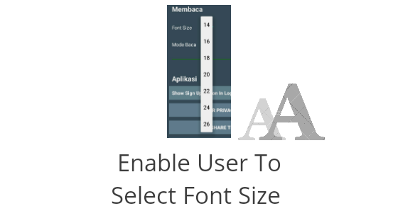 Enable User To Select Font Size - Android Tutorial