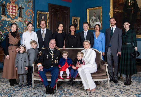 Beatrice Borromeo, Princess Caroline,  Princess Stephanie, Princess Alexandra, Princess Gabriela and Princess Charlene