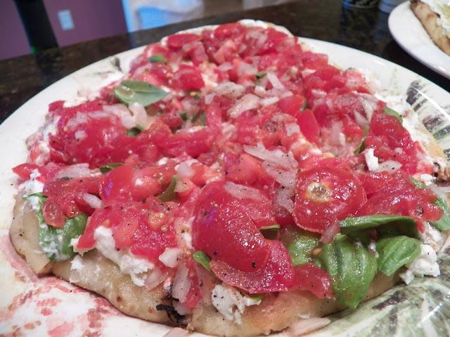 Tomato Bruscetta mix on Naan