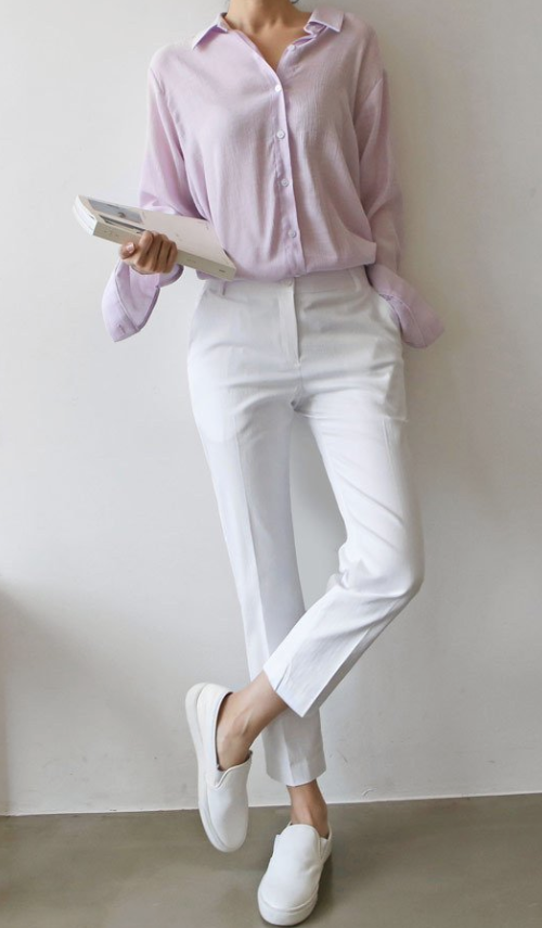 Ankle Cropped Cotton Pants