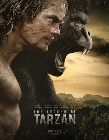 Poster Of The Legend of Tarzan 2016 Dual Audio 750MB HDTS [Hindi - English] Free Download Watch Online Worldfree4u
