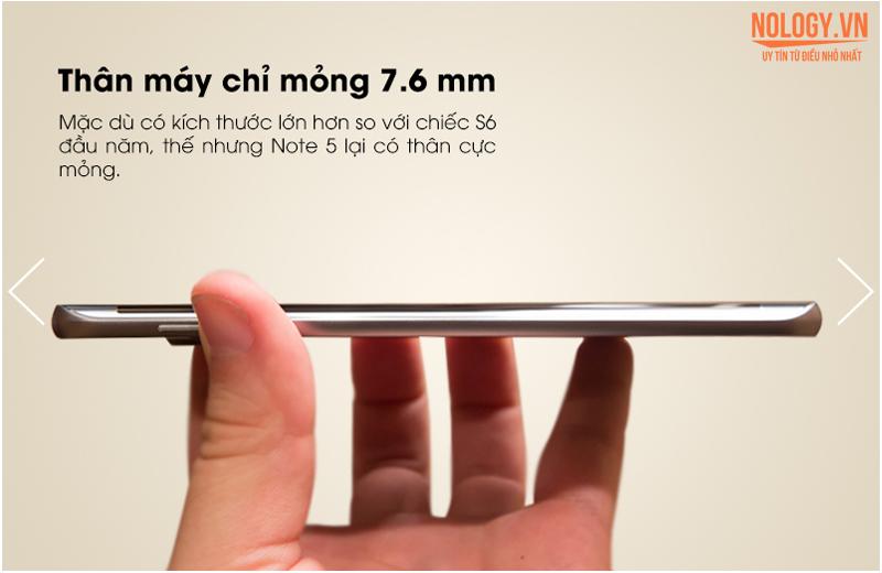Thân máy cực mỏng của Samsung galaxy S5