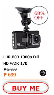 LHR B03 1080p Full HD WDR 170 Degree Digital Car Dash Camera Recorder