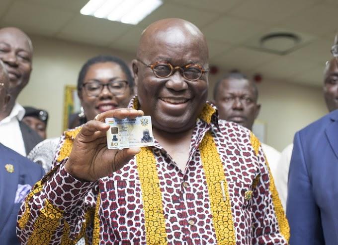 "Akufo-Addo receives new ""Ghana Card"""